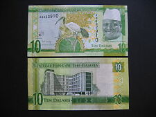 GAMBIA  10 Dalasis 2015  (Pnew)  UNC
