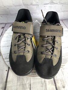 Shimano SH-M038W SPD Cycling Shoes  size 7.5 Black/Beige Strap Mountain Bike
