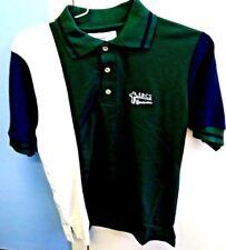 Polo Shirt Hunter Green Blue & White SRCS Warriors Christian School NWT