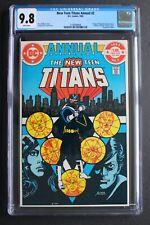 NEW TEEN TITANS ANNUAL #2 1st VIGILANTE Harbinger TV 1983 Suicide Squad CGC 9.8