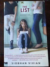The List Book Siobhan Vivian  Prettiest Ugliest Push Fiction Teen Books