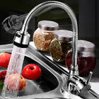 360° Rotating Kitchen Sink Basin Swivel Mixer Tap Spout Hot & Cold Chrome Faucet