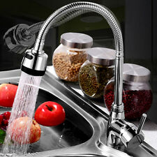 360° Rotating Kitchen Sink Basin Swivel Mixer Tap Spout Hot & Cold Chrome Faucet