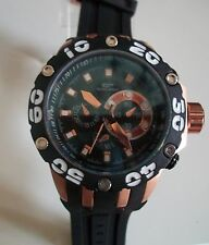 Designer Big Heavy Black/Rose Gold Finish Rubber Band Fashion Inspired Watch
