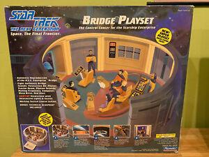 Vintage Star Trek Next Generation TNG Bridge Playset Playmates 1993 NI Worn B