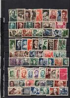 France : 123 timbres neufs ** sous étui avec séries