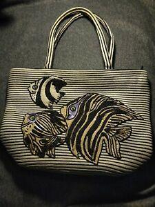 Eric Javits New York Sequin Fish Squishee Bag