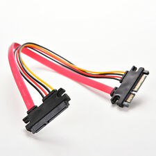 30CM Male to Female 7+15 Pin SATA Data HDD Power Combo Extend Extension Cable HC