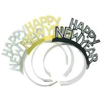 Glitter Happy New Year Headband 6Pcs Photo Prop Decoration Hair Accessories C0H6