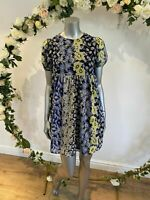 Influence Smock Dress Size 8 & 12 Blue Patchwork Floral Tiered Dress GO08 New