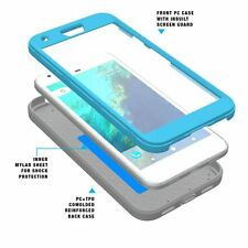For Google Pixel XL Case【Revolution Series】 Rugged Hybrid Case TPU Cover Blue