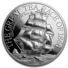 Cook 2016 $5 The Great Tea Race 1 Oz HIGH RELIEF Silver Coin
