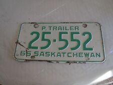 1966 Saskatchewan Canada License Plate 25 552