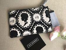 Lulu Guinness petite pierre & Noir Cameo Imprimé Poche Zippée Sac à main RRP £ 30 BNWT