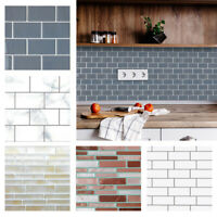KQ_ Self Adhesive Backsplash Waterproof 3D Epoxy Tile Sticker DIY House WallDeco