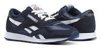 Reebok Classic Nylon Navy, Platinum Mens Running Tennis Shoes Item 39749