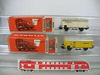 AN760-0,5# 2x Märklin H0/AC Güterwagen: 4508 Kühlwagen+4509 Bananenwagen DB, OVP