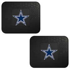 NFL Dallas Cowboys Car Truck 2 Back Utility All Weather Rubber Floor Mats