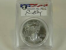 2015 Silver American Eagle  PCGS  Ms 70 Edmund Moy Signed, First Strike