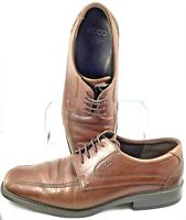 Ecco Helsinki Oxford Mens EUR 47 US 13-13.5 Brown Bicycle Toe Lace Up Dress Shoe