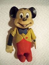 Vintage Mickey Mouse Doll Wood Chip Filled 5 ½""