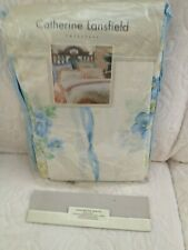 Catherine Lansfield single bed duvet cover valanced fitted sheet pillow case blu