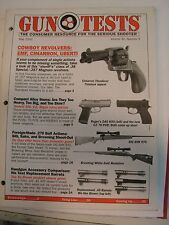 Gun Tests Magazine May 2000 Cowboy Revolvers 9mm Pistols .270 Rifles Ruger DAO K