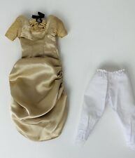 Vtg Doll Dress Champagne Gown Clothes Pantaloons Fits 15� Slender Waist Dolls