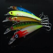 5PCS Sea fishing Lure Long shot Minnow hook lure baits 11cm/15g