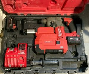 "Milwaukee 2712-22DE Brushless M18 FUEL 1"" SDS Plus Rotary Hammer & HAMMERVAC Kit"
