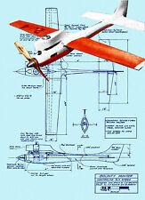 Build a 1968 vintage  CONTROL LINE 1/2 SPEED PLANE BOUNTY HUNTER Printed Plans