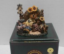 Boyds Bearstone Sunny and Sally Berriweather Plant with Hope - In Box - b3