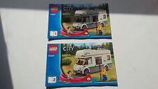 Lego City!!! Instrucciones Solamente!!! Para 60057 camper van