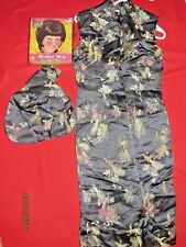 Women's Vintage Asian Dress Halloween Costume With Purse & Wig Size M