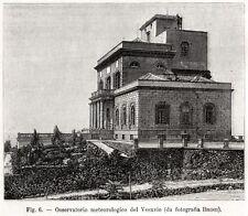 OSSERVATORIO VESUVIANO. Vesuvio. Vesuvius. Golfo di Napoli. Campania Felix. 1896