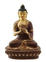 Soprammobile Tibetano Budda Vairochana Rame E Oro Nepal Budda AFR9-8712