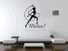 Catwoman Meow Lounge Room Wall Art Sticker Free Postage Cat Kitten
