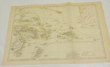 1885 Antique COLOR Map/POLYNESIA