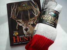 RedHead Brand Wool Blend Socks, Size 10-13 ,USA