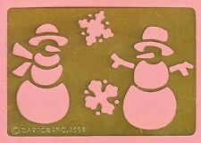 SNOWMEN & SNOWFLAKES  Brass Stencil - NEW - card making , scrapbook , embossing