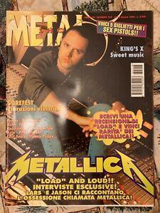 METAL SHOCK rivista magazine 218/1996 METALLICA gorefest kings x gorefest