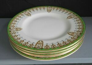 "FIVE VINTAGE ROYAL DOULTON TIVOLI  D 6210 TEA / SIDE PLATES, 6  3/8"" DIA ENGLAND"