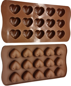 Love Heart Shaped Tray Chocolate Ice Jelly Silicone Mould    Baking