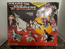 Transformers G1 Superion Box 90% Complete Giftset Aerialbots Takara