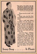 """1911 Ivory Soap Man Bathrobe Dr Lawrence Clean? """"Bathe once Daily"""" Print Ad"""
