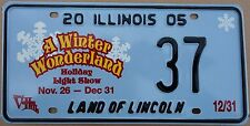 "Illinois 2005 ""A Winter Wonderland"" USA Number License Plate American 37"