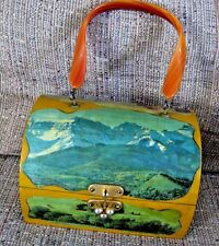 Decoupage Wood Box Purse From the 60's