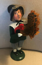 2005 Byers Choice Boy Pilgrim Caroler with Turkey - Great Condition!