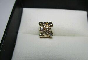 PANDORA charm - solid 14ct 14k Gold & diamond ETERNAL FRUIT - 750435D