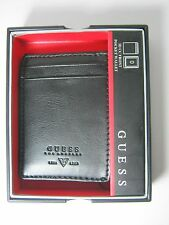 Guess Men's Front Pocket ID Wallet Magnetic Money Clip Black 31GO160002 $42